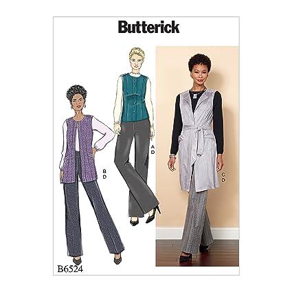 f88413f64 Butterick Patterns MCCALL 's Patterns 6524 E5 de Costura para ...