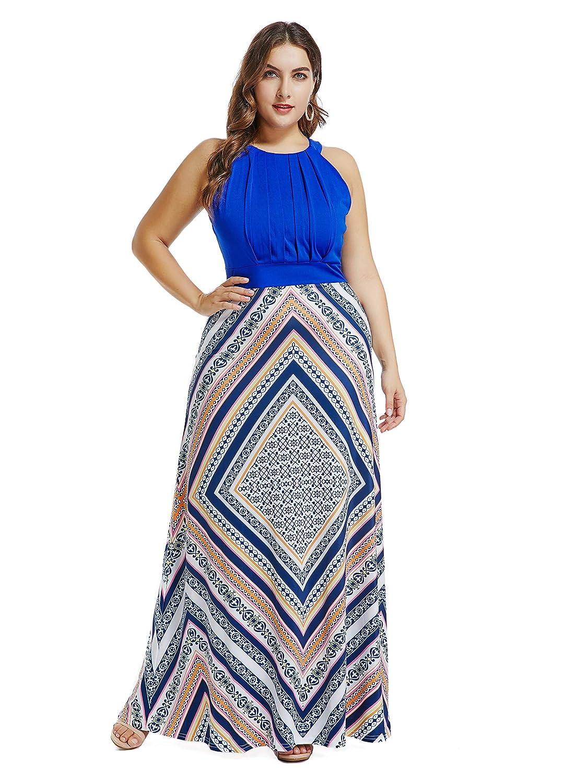 836dada418e Plus Size Boho Print Flowy Beach Wrap Maxi Dress - RoseGal