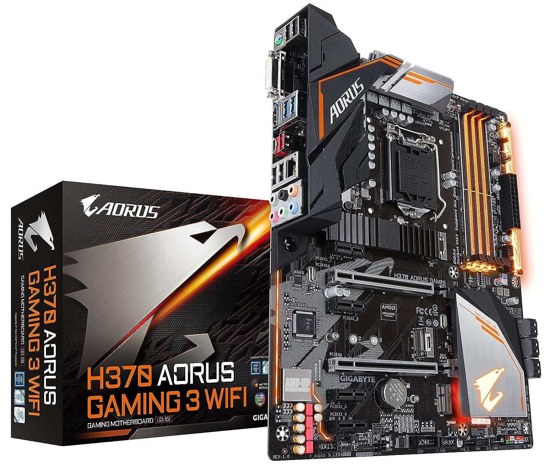GIGABYTE H370 AORUS Gaming 3 WiFi (LGA1151/Intel/USB3.1 Gen 2 Type A,Type C/HDMI/M.2/ATX/DDR4/Motherboard)