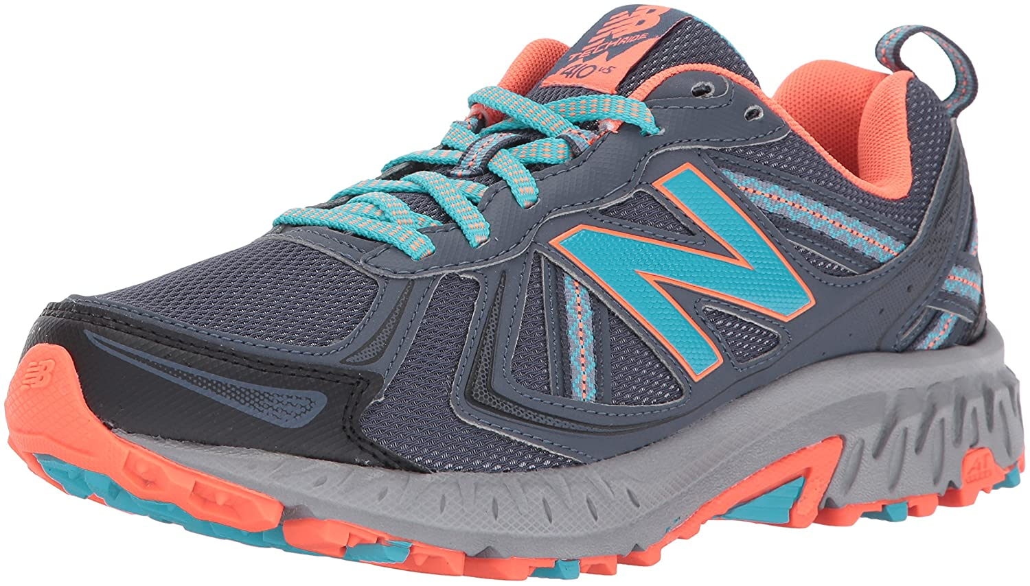 New Balance Women's WT410v5 Cushioning Trail Running Shoe B01LXGCI9E 5.5 D US|Dark Grey