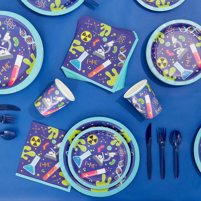 Lot de 80 assiettes en papier pour f/ête danniversaire 9 Pouces, Bleu