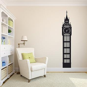 0cb4d8ceb2a3 Big Ben London Clock Wall Decal - Working Clock Decoration - Clock Art  Vinyl Decal Sticker