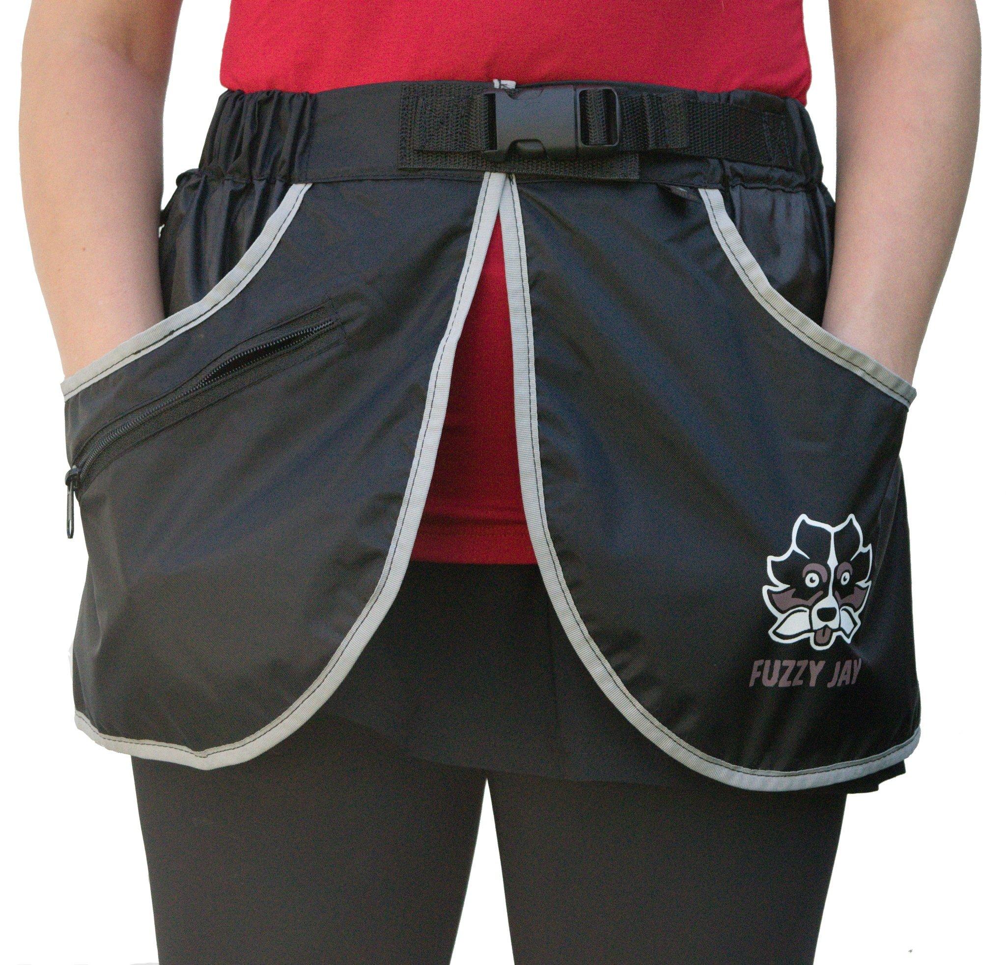 FUZZY JAY Agility Training Skirt (L/XL, Black/Grey)