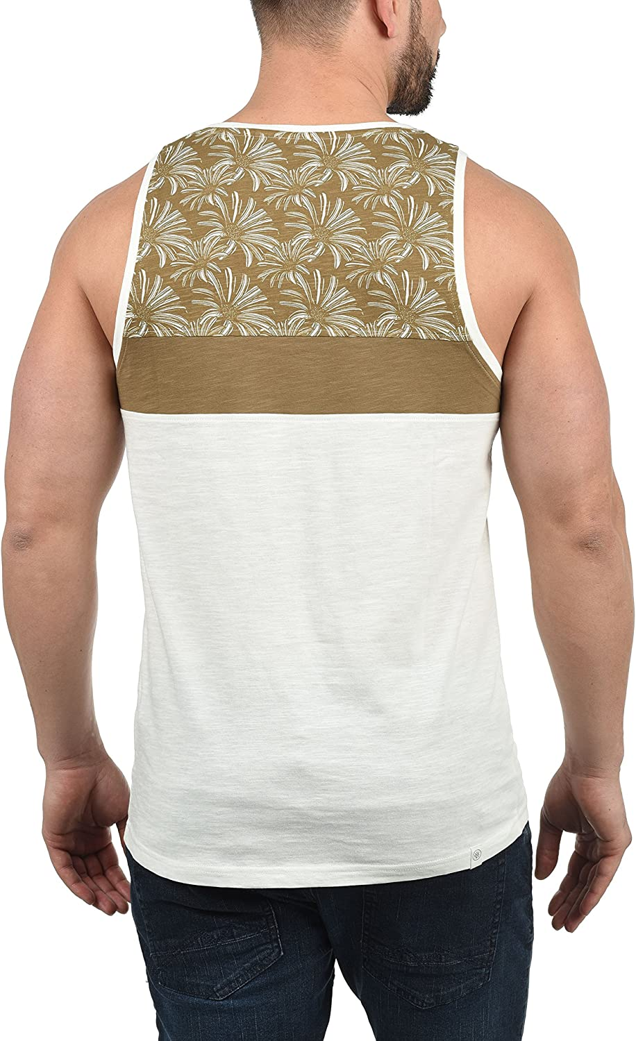 Solid Flo Mens Sleeveless Vest Tank Top with Chest Pocket