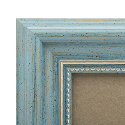 Amazon.com - 4x6 Picture Frame Antique Teal - Mount Desktop Display ...