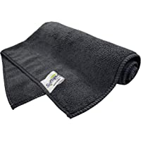 SOFTSPUN Microfiber Cloth - 1 pcs - 40x40 cms - 340 GSM Grey - Thick Lint & Streak-Free Multipurpose Cloths - Automotive Microfibre Towels for Car Bike Cleaning Polishing Washing & Detailing