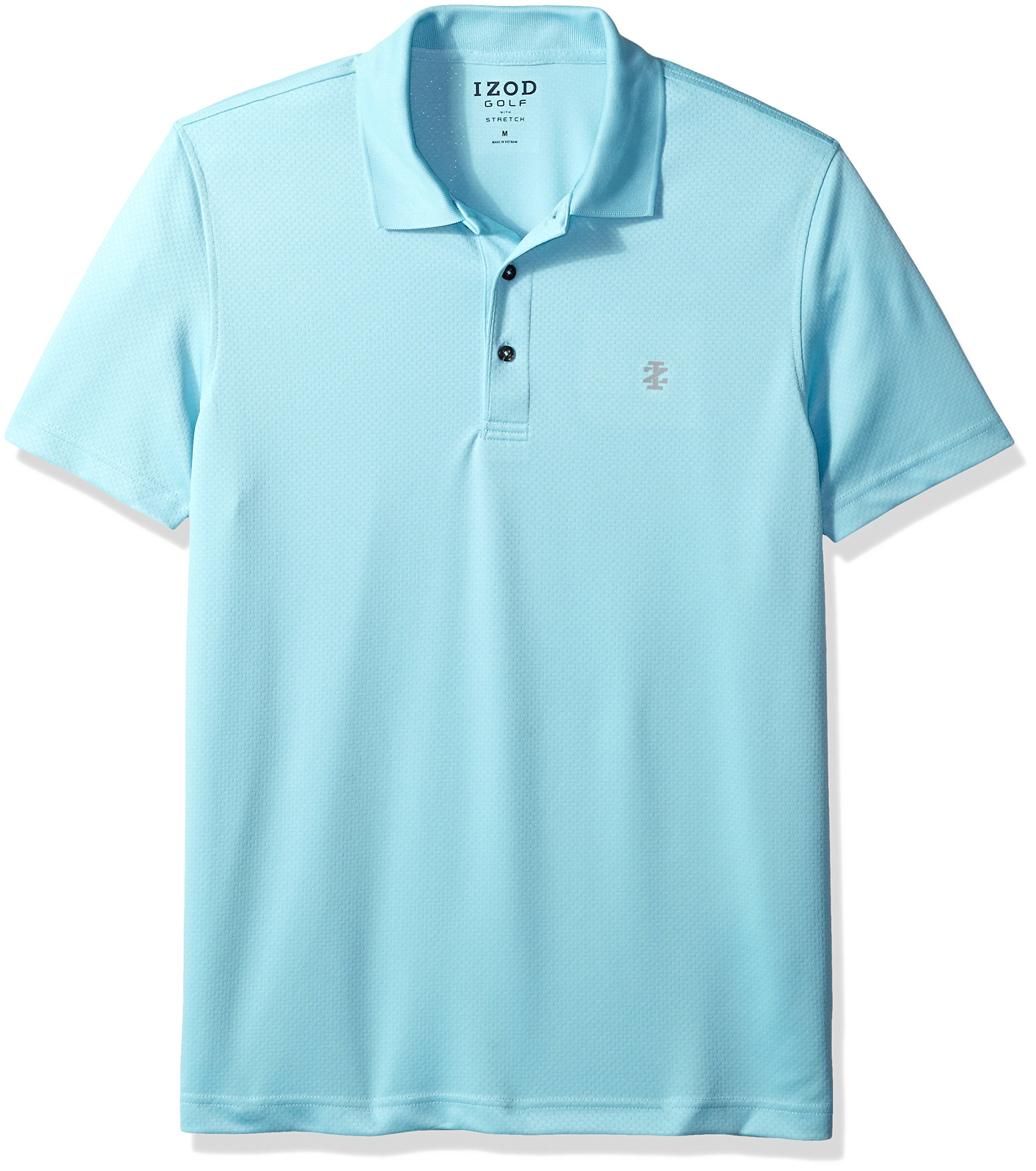 IZOD Men's Golf Title Holder Short Sleeve Polo, Gulf Stream 2, S by IZOD