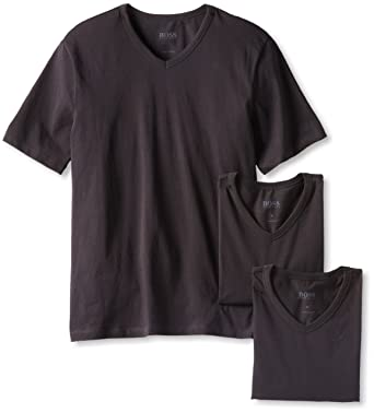 53fce570020a Amazon.com: BOSS HUGO BOSS Men's 3-Pack Cotton V-Neck T-Shirt: Clothing