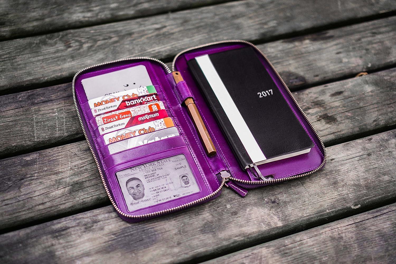 Purple Leather Zippered Hobonichi Weeks//Mega Weeks Cover