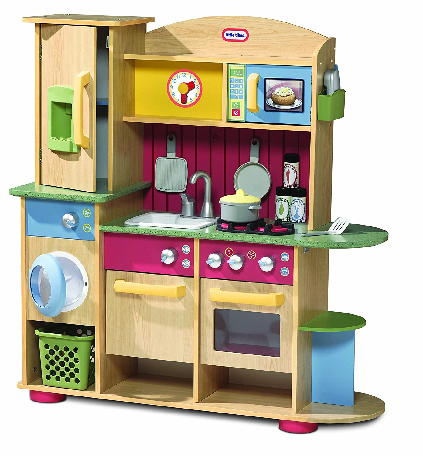 Amazon.com: Little Tikes Cooking Creations Wood Kitchen: Toys & Games