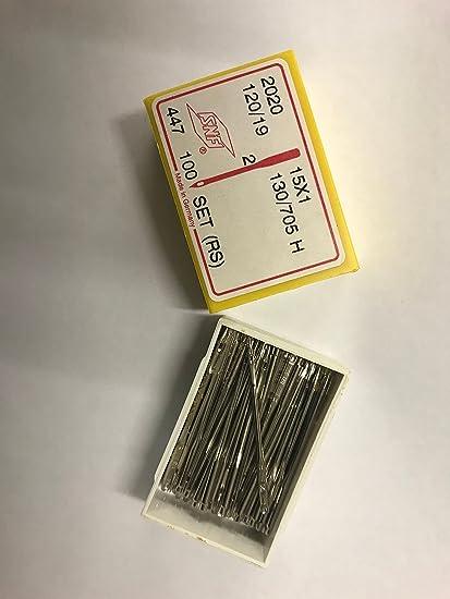 Singer Sewing (19) 120 agujas de Alemania en caja 100s