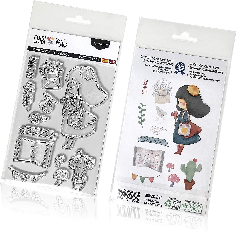 PARAES Sellos scrapbooking silicona fotopolímero (13 piezas individuales) - Sweet Juliana - Alta calidad - scrapbook - álbum de fotos - Scrapbooking Materiales: Amazon.es: Hogar
