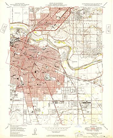 Amazon com: California Maps - 1949 Sacramento East, CA USGS