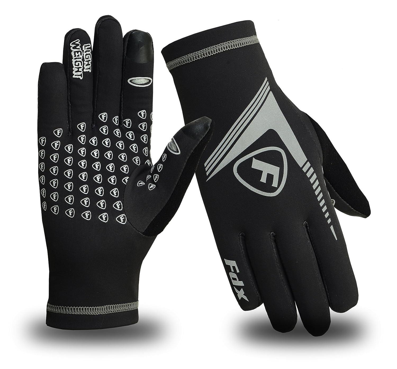 FDX Mens Running Gloves ColdGear Yoga Football lightweight Hi Viz Gloves FDX-3380