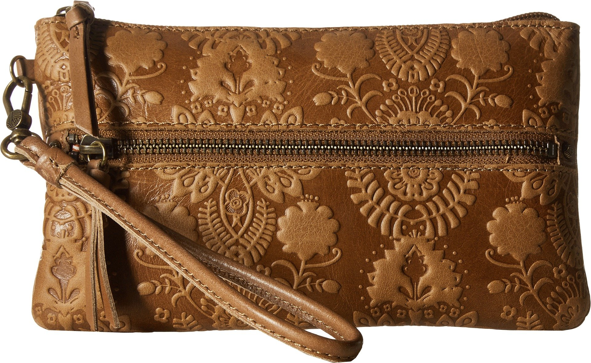The Sak Sanibel Charging Wristlet, Tobacco Floral Emboss