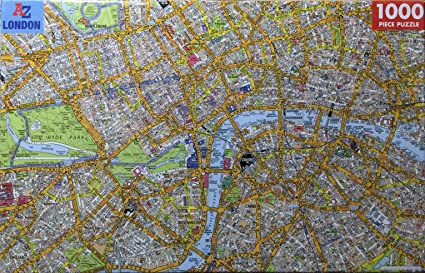 city of london map jigsaw puzzle 1000 pieces