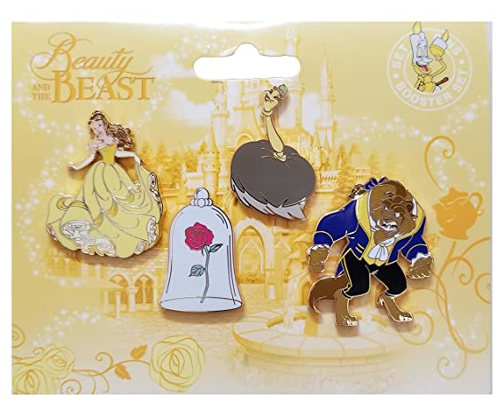 Beauty And The Beast Collectibles >> Disneyland Paris Pin Beauty And The Beast Booster Set At Amazon S
