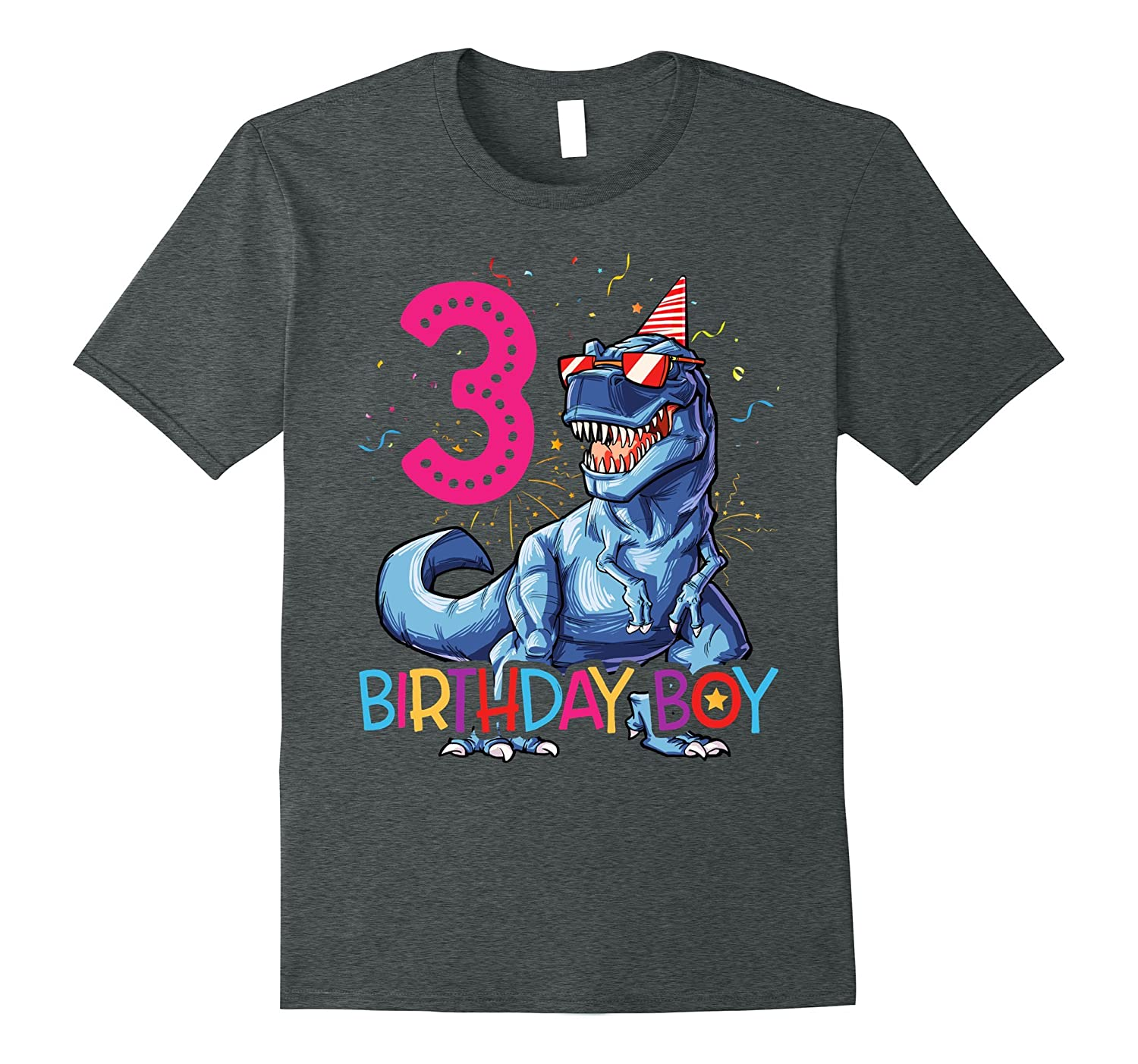 Dinosaur T Rex 3 Year Old Shirt Kids 3rd Birthday ANZ