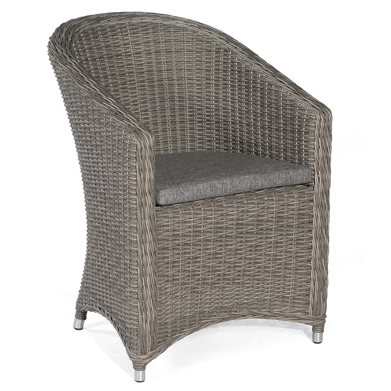 Sonnenpartner Gartenstuhl Sessel Modell Solana stone-grey inkl. Kissen