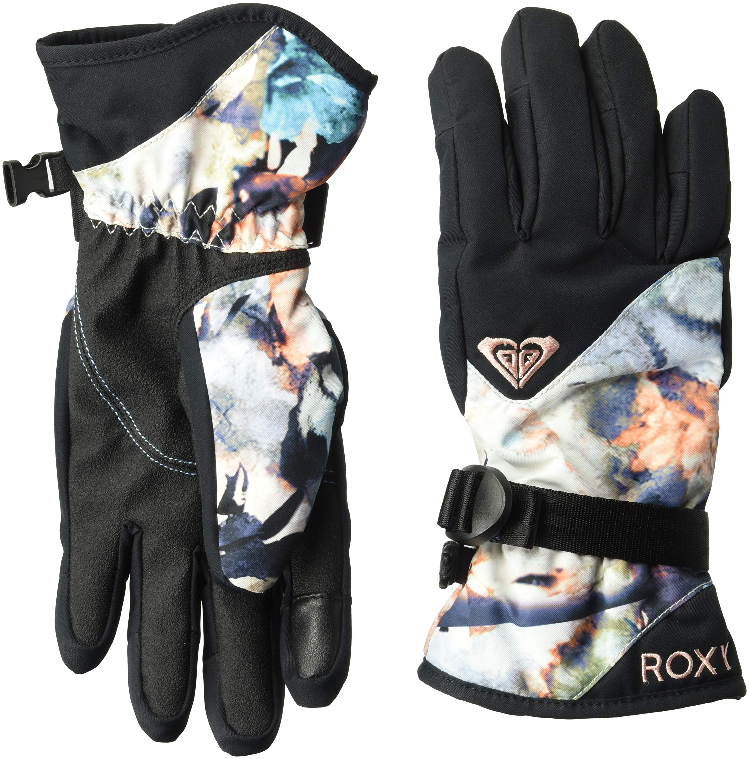 Roxy SNOW Junior's Jetty Gloves, Bachelor Button_Water of Love, M