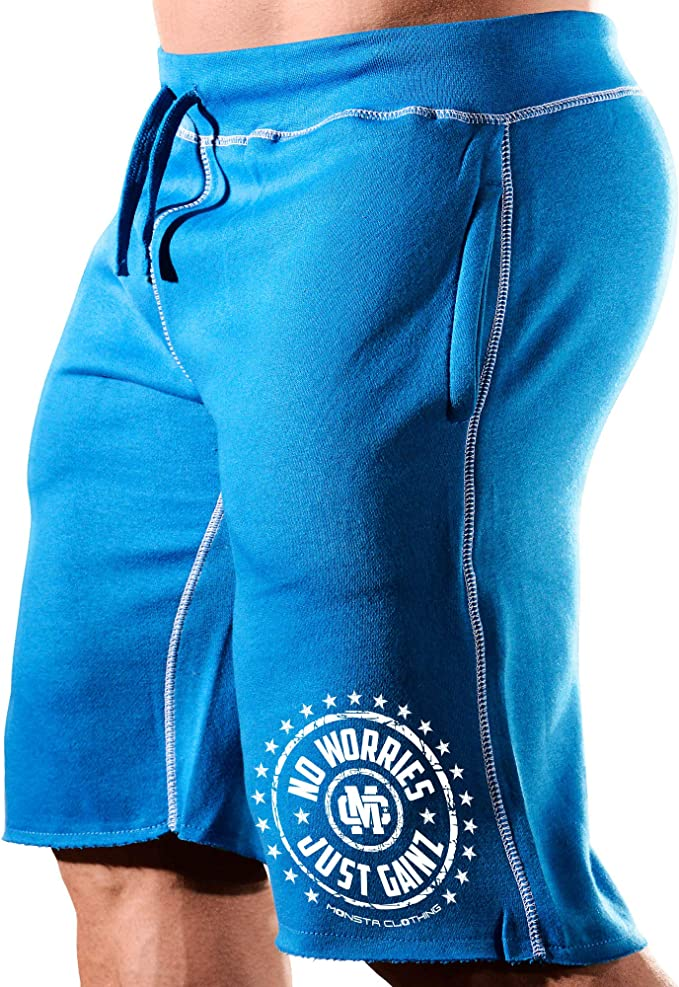 Mens Bodybuilding Workout Monsta Clothing Co MuscleSymbol Gym Sweat Shorts