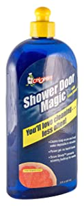 Chomp Shower Door Magic, Nature Based Hard Water Stain Bathroom Cleaner for Surface Buildup, Professional Strength Safely Removes Soap Scum, Calcium