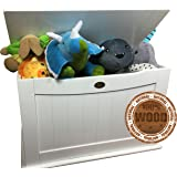 Storage Boxes - Toy Toys Box for Toy Storage Chest - Wood Solid - Nursery Children Room