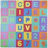 Baby Vivo Eva-alfombra Puzzle di Gioco per Bambini 190x 190cm con Lettere e nãomeros