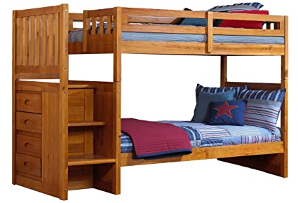 Cambridge Staircase Bunk Childrenu0027s Bed Frames, Twin Over Twin