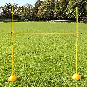 gelb f/ür Fu/ßballtraining H/ürdenset mit Rundfu/ß und Stangen 180 cm