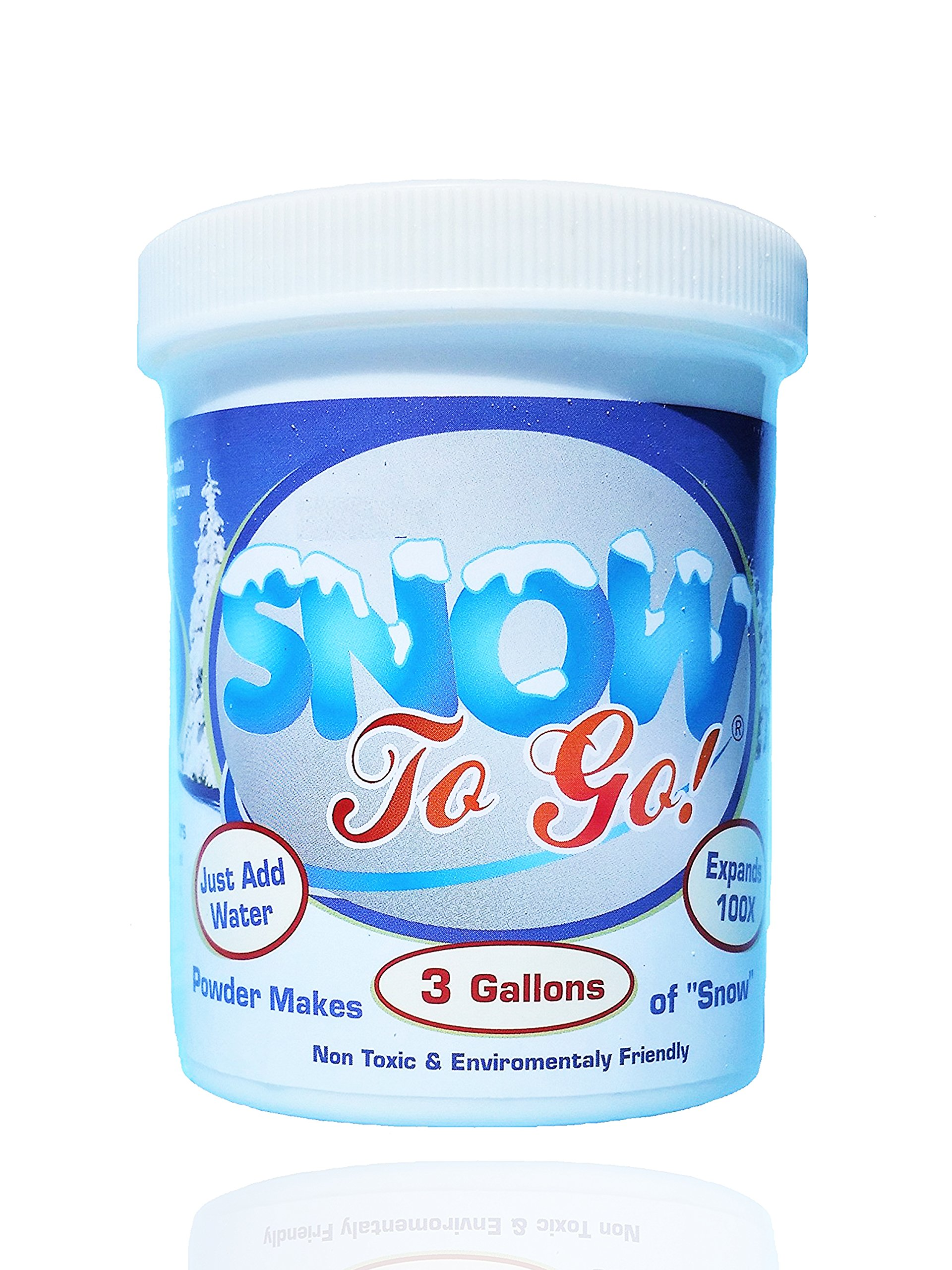 Instant Snow Powder Jar 8 Oz - Makes 3 Gallon Of Snow - Great For Decorating And Fun – Non Toxic & Environmental Friendly (Scoop and instructions included) by Fun Flow