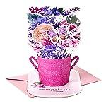 Hallmark Paper Wonder Mothers Day Pop Up Card (Purple Flower Bouquet, Beautiful in Every Way)