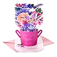 Hallmark Paper Wonder Mothers Day Pop Up Card (Purple Flower Bouquet, Beautiful in Every Way)
