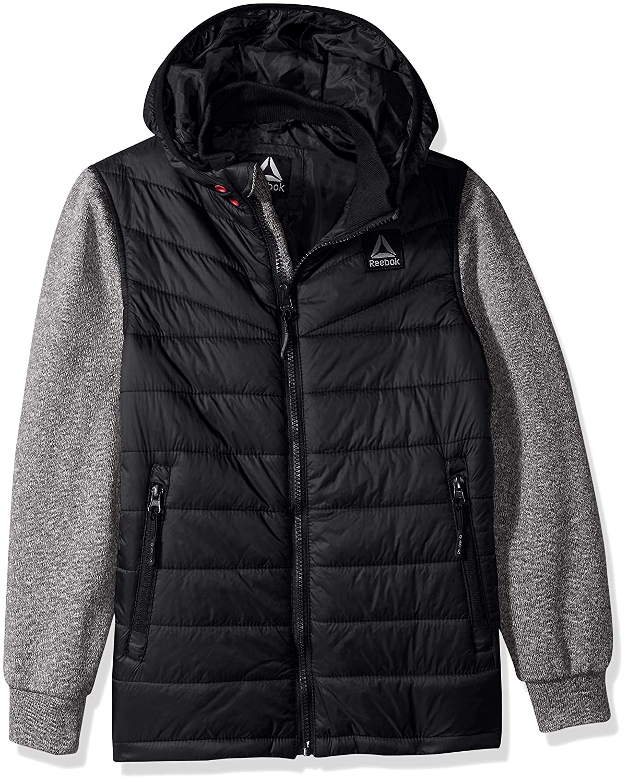 Reebok Boys Active Sweater Fleece Mix Jacket O/_RB339H