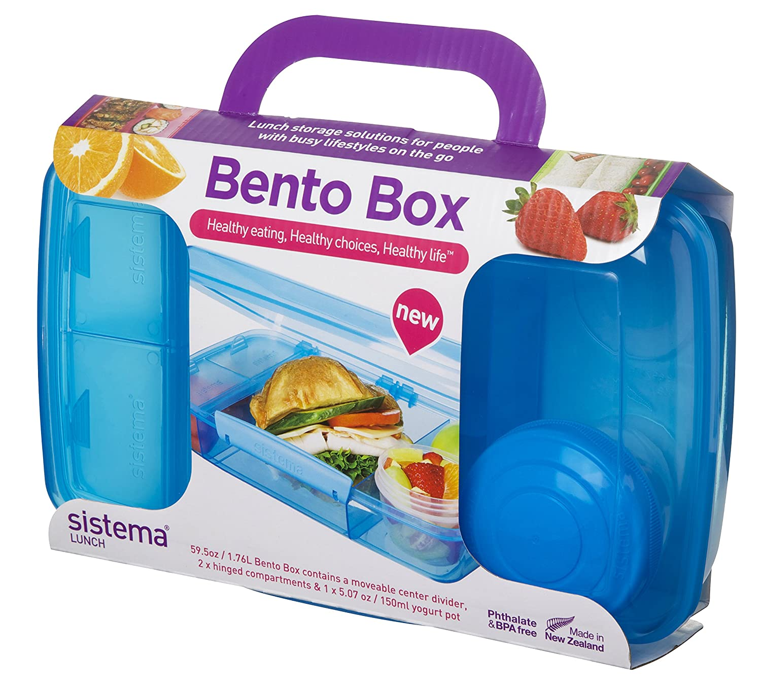 Amazon.com: Sistema Lunch Collection Bento Box For Food Storage,  Multicolor: Kitchen U0026 Dining