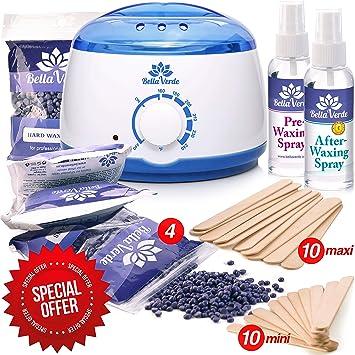 New Waxing Kit - Wax Warmer - Post-Wax Treatment Spray - Depilatory Wax -  Hot Hard Scented Wax