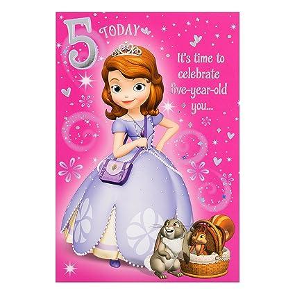 Amazon Hallmark Princess Sofia 5th Birthday Card Full Of