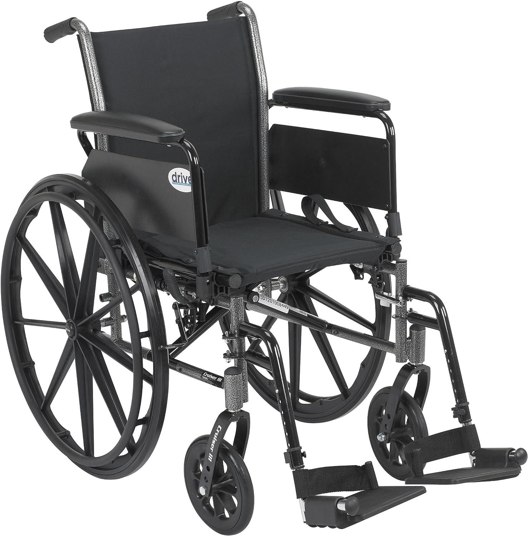 3. Drive Medical Cruiser III Light Weight Wheelchair