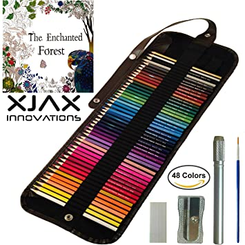 Colored Pencils For Adults Kids 48 Watercolor Roll Canvas Artist Set Best
