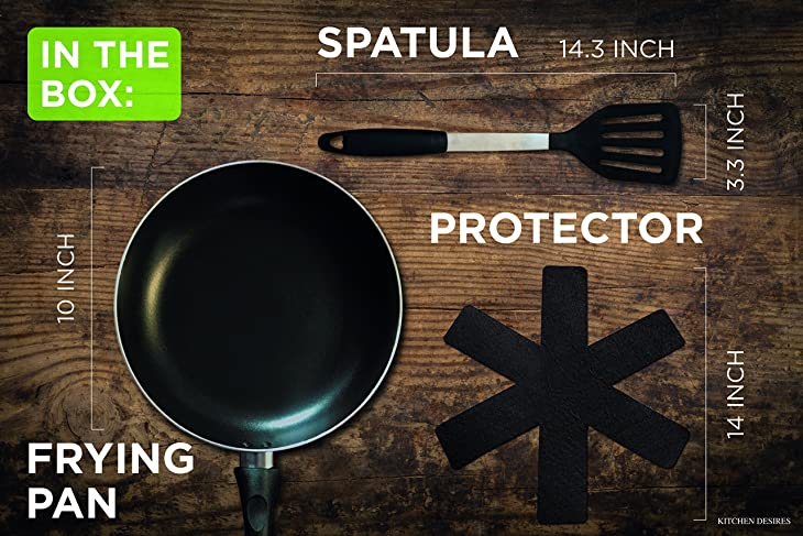 Ultra Durable & Easy To Clean 10 Inch Frying Pan