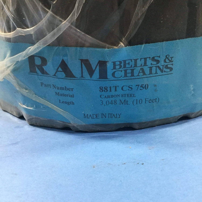 7 1//2 Width Ram Belts and Chains 881T CS 750 Chain 10 Feet