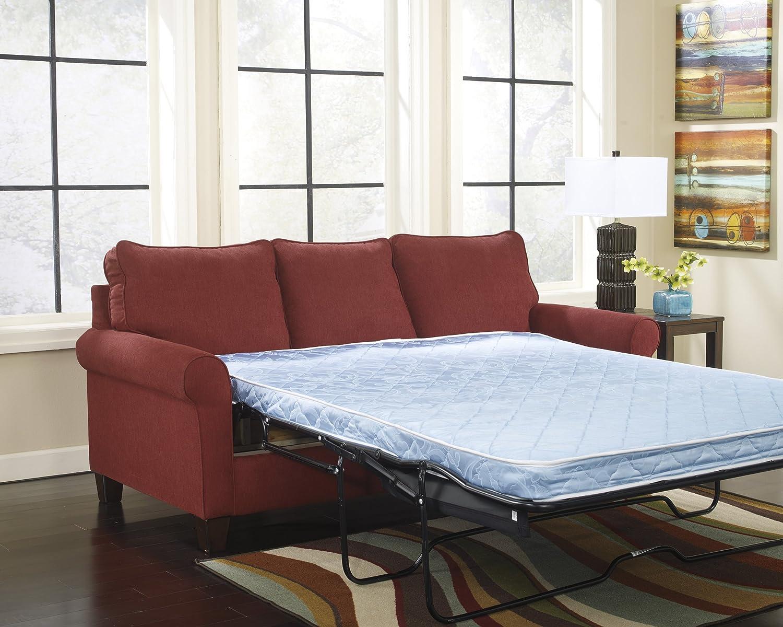 Amazoncom Zeth Crimson Tone Fabric Upholstery Contemporary - Sofa sleeper twin