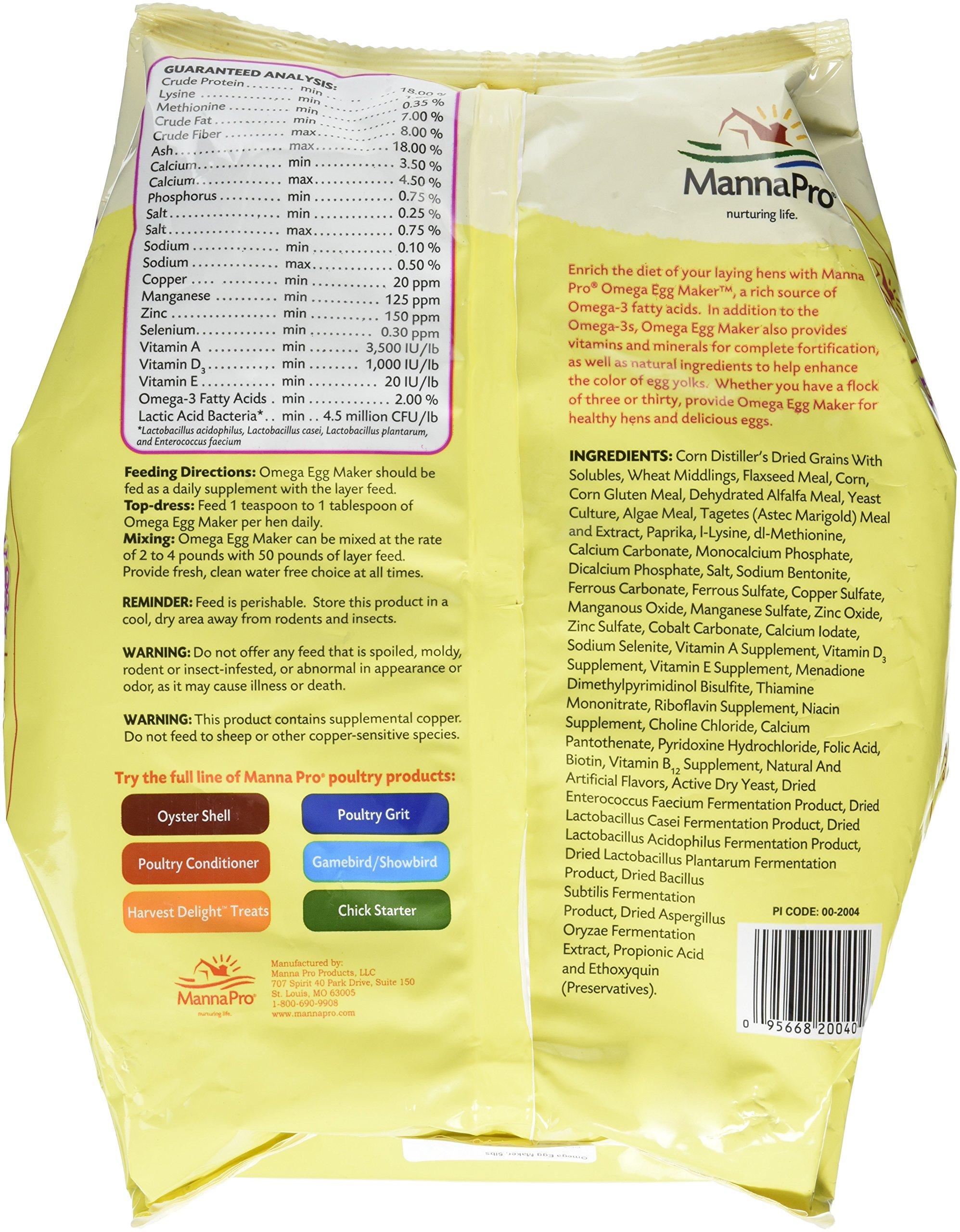Manna Pro Omega Egg Maker Supplement, 5 lb