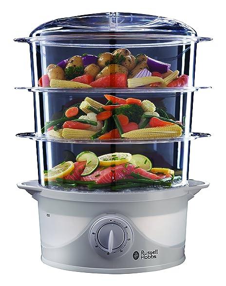 Amazon.com: Russell Hobbs 21140 Three Tier Food Steamer, 9 L - 800 ...