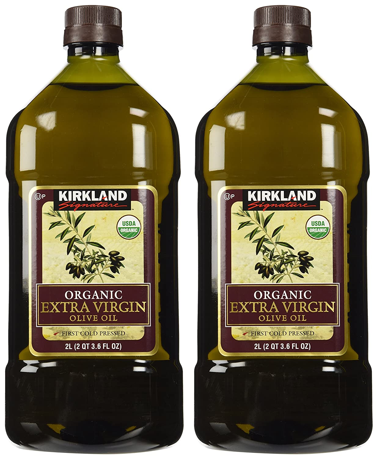 Amazon.com: Kirkland Signature 2 x Organic Extra Virgin Olive Oil, 2  Liters: Grocery & Gourmet Food
