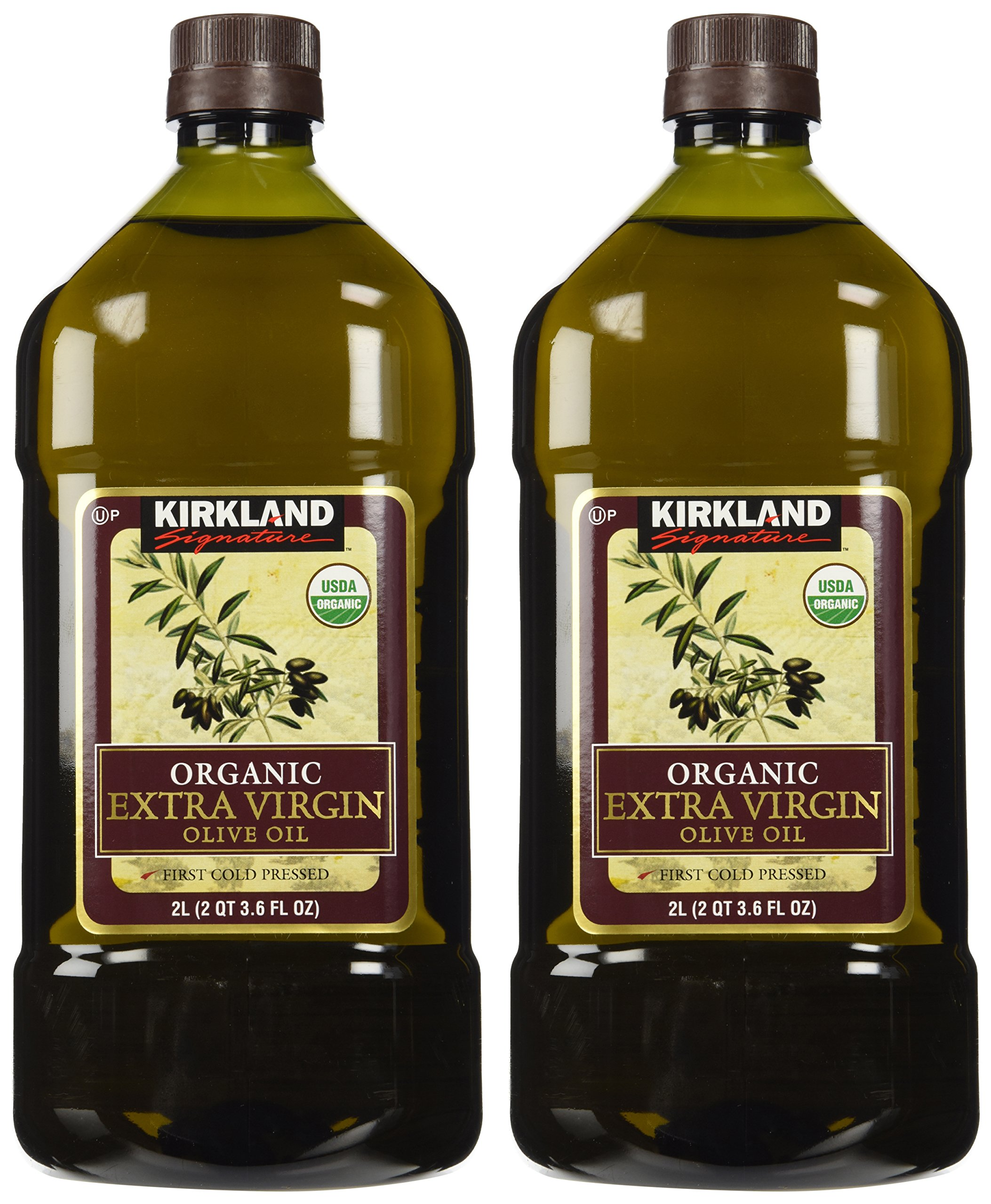 2 x Kirkland Signature Organic Extra Virgin Olive Oil, 2 Liters