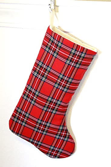 plaid christmas stockings tartan christmas stockings fully lined - Plaid Christmas Stockings