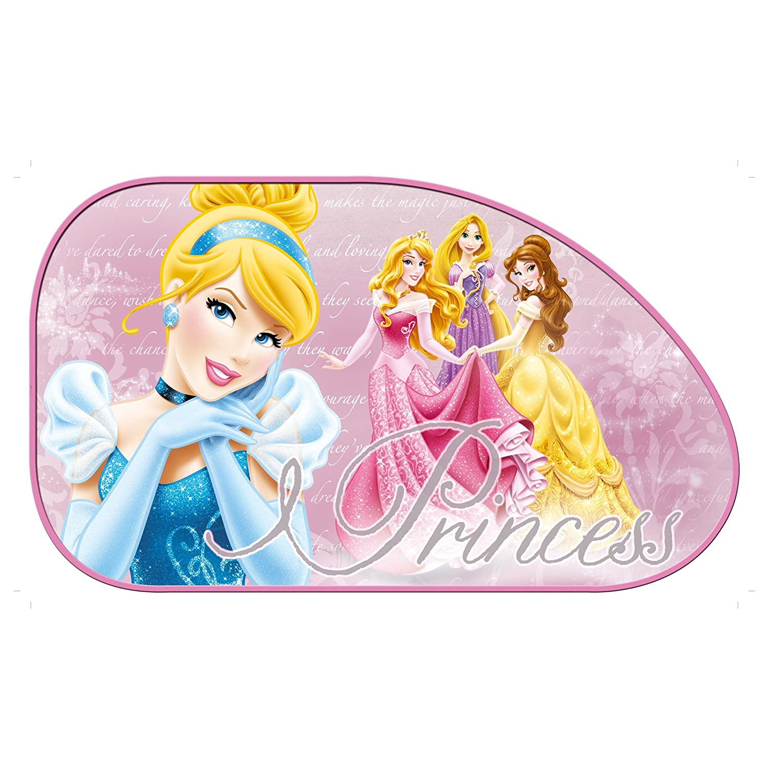 2 x Disney Princess Large Car Sun Shade UV Kids Baby Children Window Visor Sola