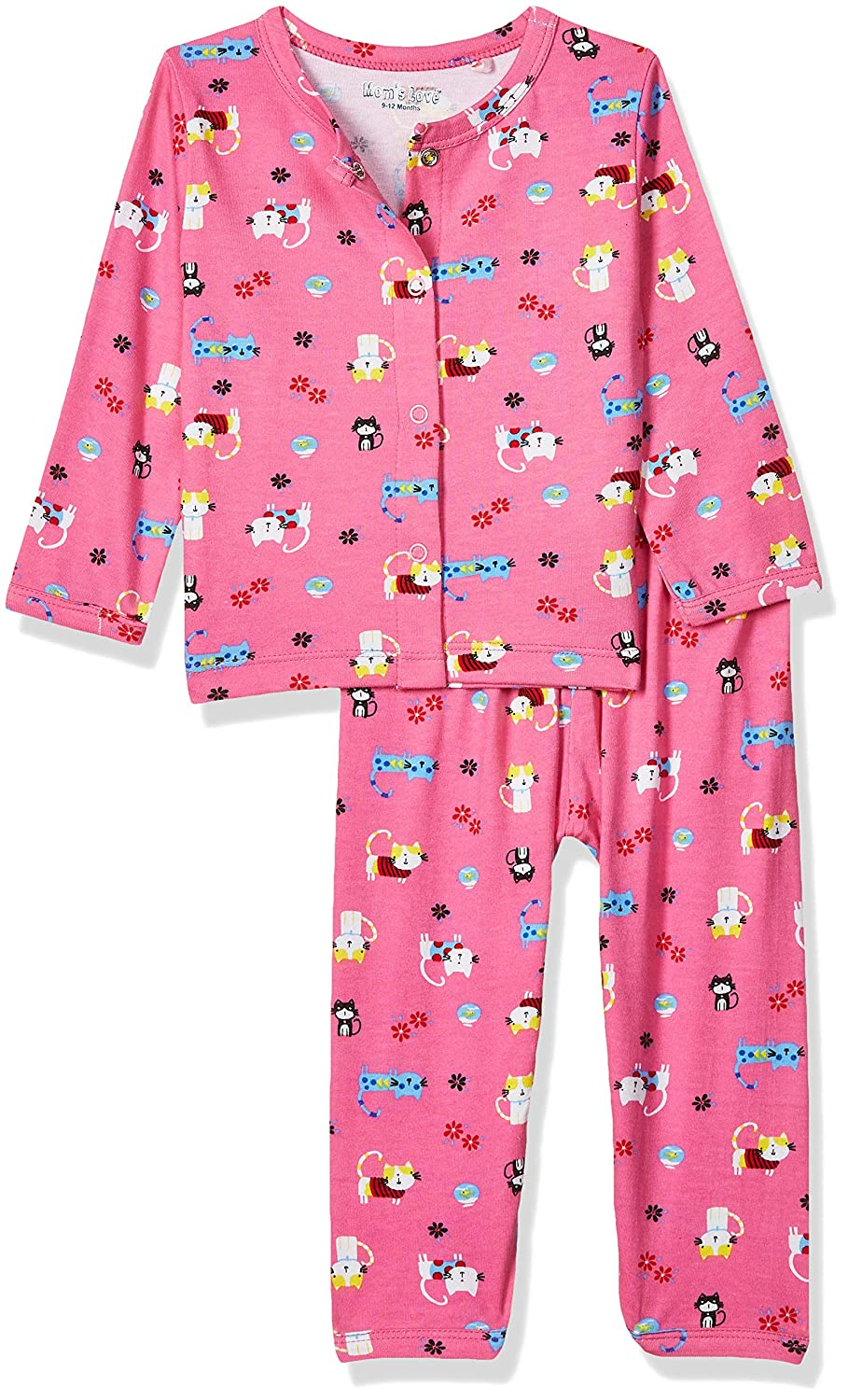 Mom's Love Baby Girl's Cotton Clothing Set