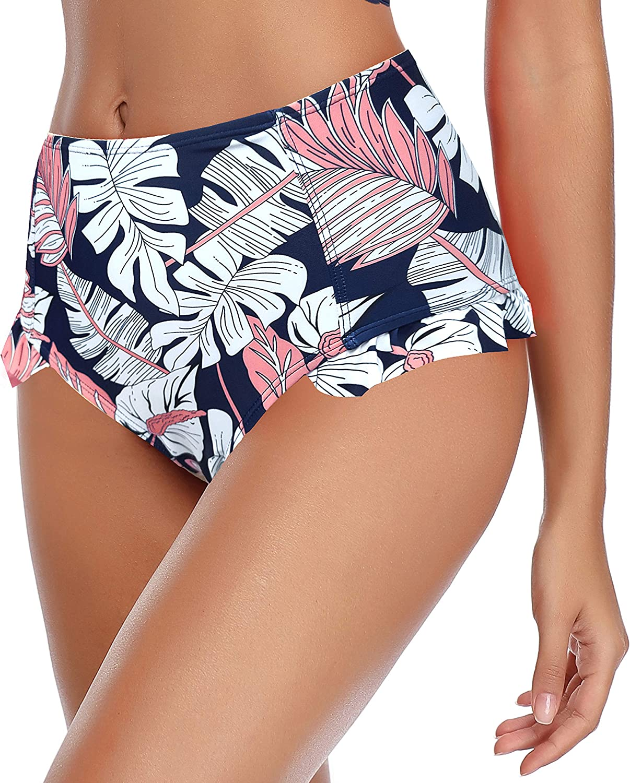 SHEKINI Damen Volant Bikini Set V-Ausschinitt Crossover